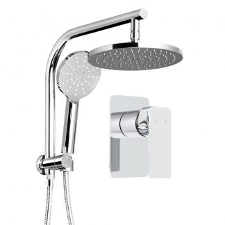 Cefito WELS 9'' Rain Shower Head Mixer Round Handheld High Pressure Wall Chrome