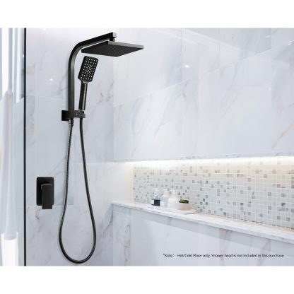 Cefito Bathroom Mixer Tap Faucet Rain Shower head Set Hot And Cold Diverter DIY Black