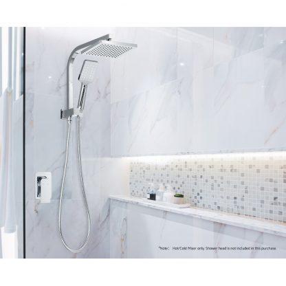 Cefito Bathroom Mixer Tap Faucet Rain Shower head Set Hot And Cold Diverter DIY Chrome