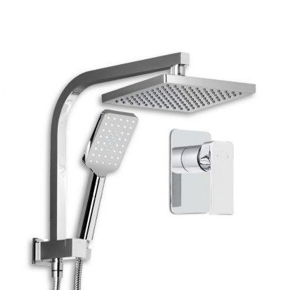 Cefito WELS 8'' Rain Shower Head Mixer Square Handheld High Pressure Wall Chrome