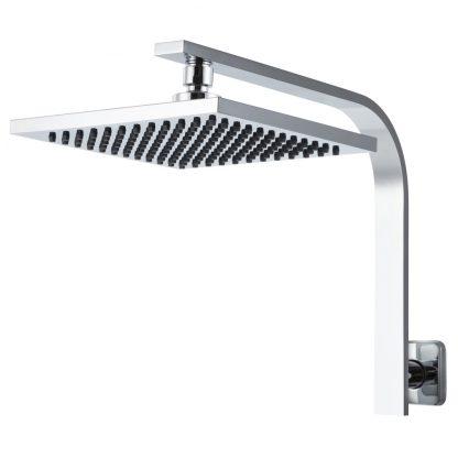 Cefito WElS 8'' Rain Shower Head Set Square High Pressure Wall Arm DIY Chrome