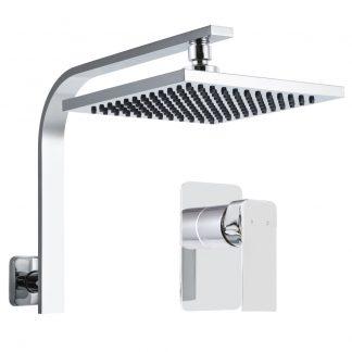 Cefito WElS 8'' Rain Shower Head Mixer Square High Pressure Wall Arm DIY Chrome