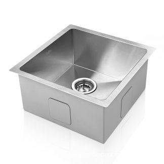 Cefito Kitchen Sink Stainless Steel Under or Topmount Handmade Laundry 360x360mm