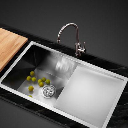 Cefito Kitchen Sink Handmade Stainless Steel Under or Topmount Laundry 750x450mm