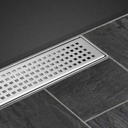 Cefito Shower Grate Square 1000mm Stainless Steel Grates Drain Floor Waste Bath