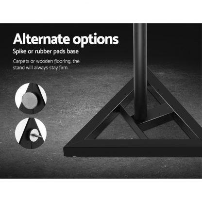 Set of 2 120CM Surround Sound Speaker Stand - Black
