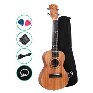 ALPHA 23 Inch Concert Ukulele Mahogany Ukeleles Uke Hawaii Guitar