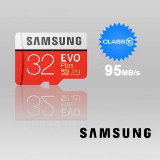 SAMSUNG 32GB UHS-I Plus EVO CLASS 10 U1 W ADAPTOR 95R/20W MB-MC32G