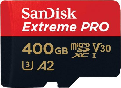 SANDISK SDSQXCZ-400G-GN6MA TF Extreme PRO A2 V30 UHS-I/U3 170R/90W WITH SD ADAPTER