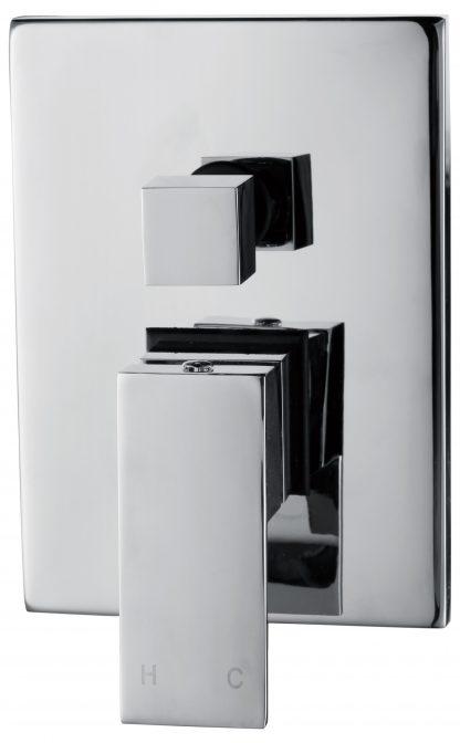 Chrome Bathroom Shower Wall Mixer Diverter w/ WaterMark