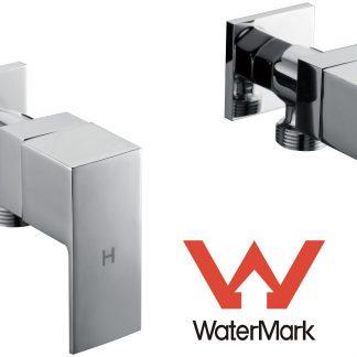 Chrome Laundry Washing Machine Stops Mixer Tap Set w/ WaterMark