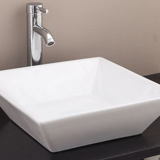 Bathroom Ceramic Rectangular Above Countertop Basin for Vanity