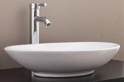 Bathroom Ceramic Oval Above Countertop Basin for Vanity
