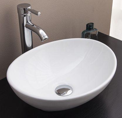 Above Counter Bathroom Vanity Oval Ceramic Basin