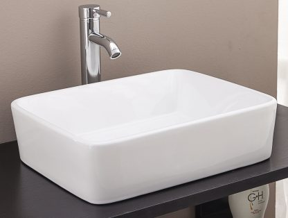 Above Counter Bathroom Vanity Square Basin