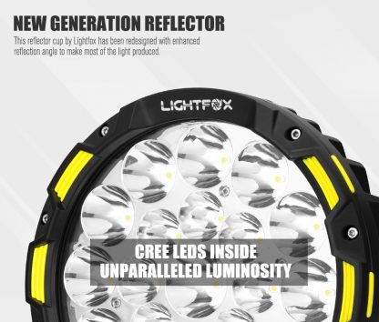 9inch LED Driving Lights Round Spotlights Offroad Truck Headlights