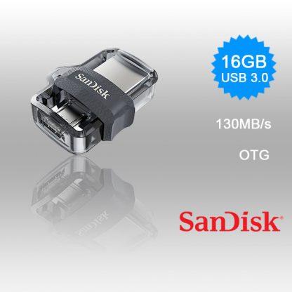 SANDISK OTG ULTRA DUAL USB DRIVE 3.0 FOR ANDRIOD PHONES 16GB 130MB/s SDDD3-016G
