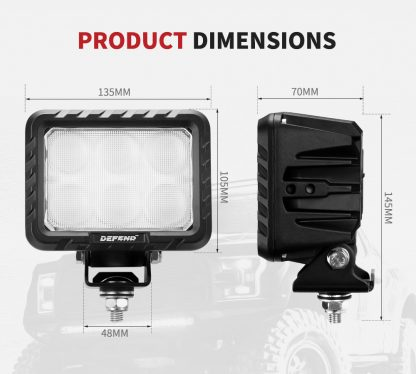 6inch Square LED Work Light Flood Truck Driving Lamp 4x4 Offroad