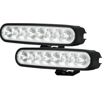 Pair 7inch 80w LED Work Driving Light Bar CREE Spot Flood Combo OFFROAD 4WD Lamp