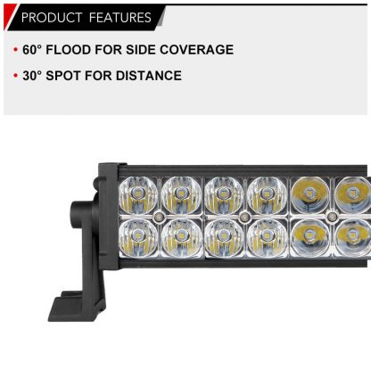 23inch Lumileds LED Driving Light Bar Offroad Spot Flood Combo Truck 4WD 20/22
