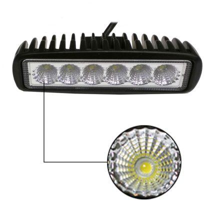 Pair 6inch 30W LED Work Light Bar Flood Reverse Fog Lights 4WD