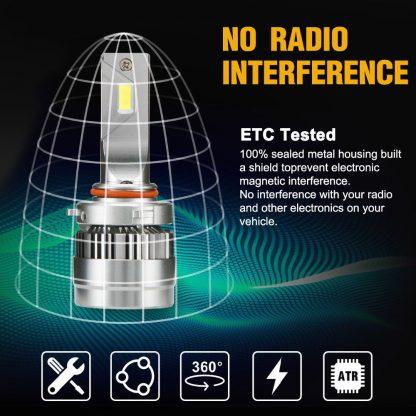 Pair LED Headlight Kit Driving Lamp CSP 9005 High Low Beam Canbus ERROR FREE
