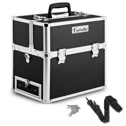 Embellir Portable Cosmetic Beauty Makeup Carry Case - Black