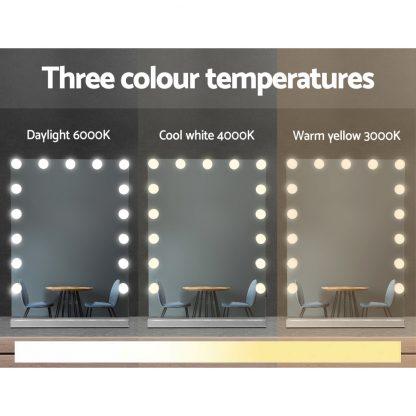 Embellir Hollywood Makeup Mirror With Light 15 LED Bulbs Lighted Frameless