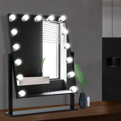 Embellir Hollywood Makeup Mirror Standing Mirror Tabletop Vanity 15 LED Bulbs