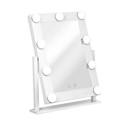 Embellir LED Standing Makeup Mirror - White