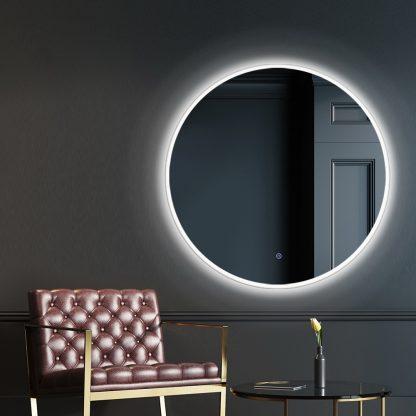 Embellir 60CM LED Wall Mirror Bathroom Light Decorative Round Large Mirrors